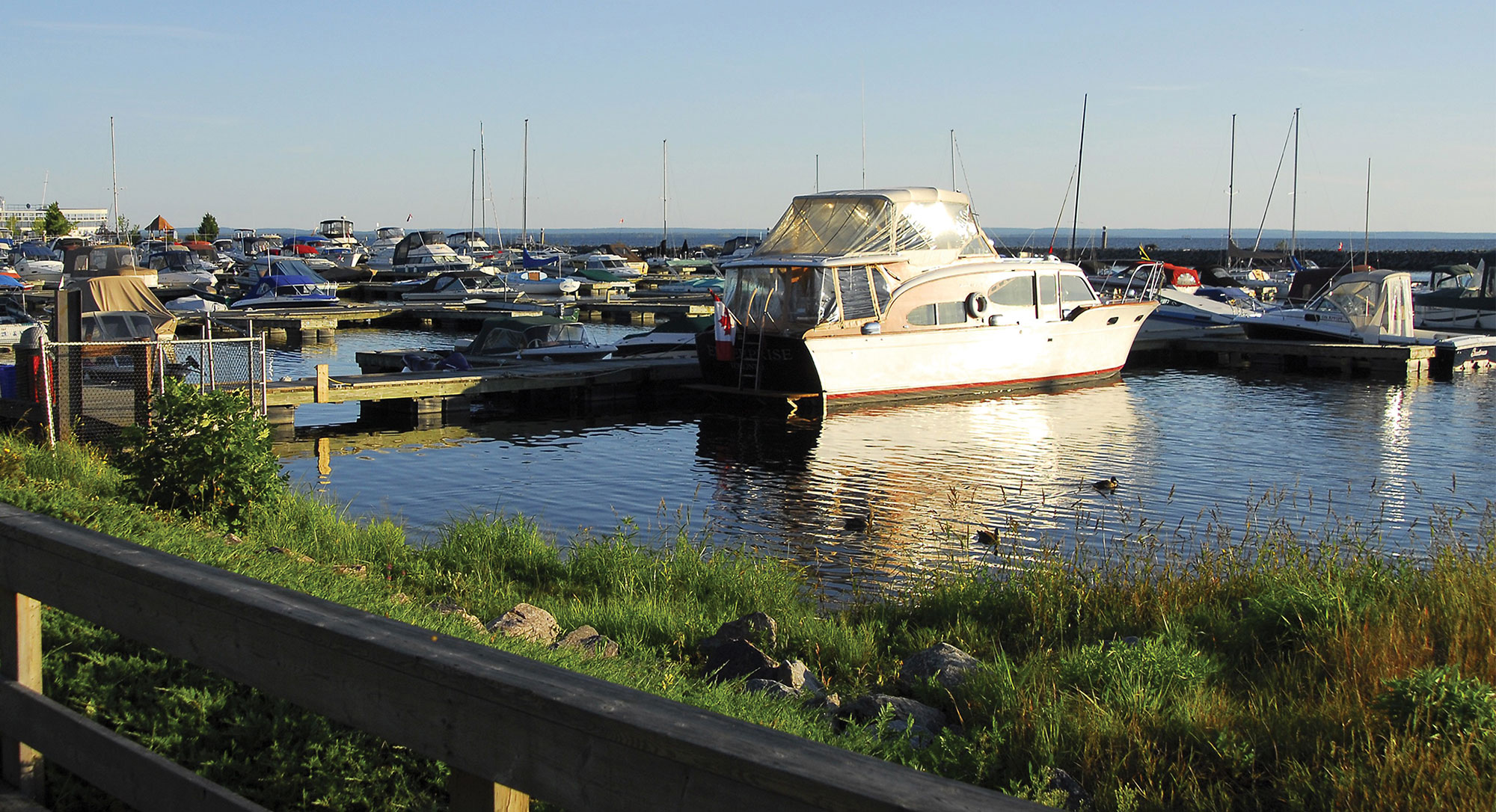 Boats at the North Bay Waterfront Marina